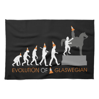 Duke of Wellington's Glasgow Traffic Cone Hat Tea Towel