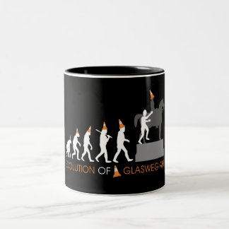 Duke of Wellington's Glasgow Traffic Cone Hat Two-Tone Coffee Mug