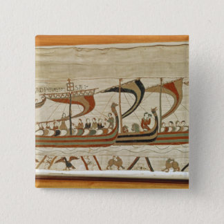 Duke William and his fleet cross the Channel 15 Cm Square Badge