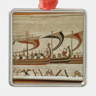 Duke William and his fleet cross the Channel Christmas Ornament