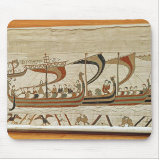 Duke William and his fleet cross the Channel Mouse Mat