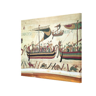 Duke William and his Fleet Cross the Channel to Pe Canvas Print
