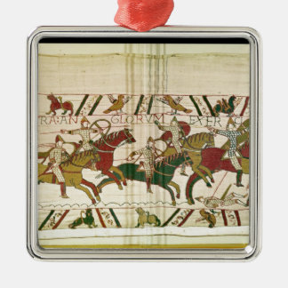 Duke William exhorts his troops Silver-Colored Square Decoration