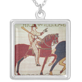 Duke William exhorts his troops Silver Plated Necklace