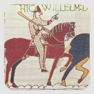 Duke William exhorts his troops Square Sticker