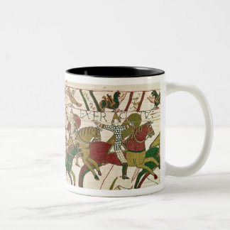 Duke William exhorts his troops Two-Tone Coffee Mug
