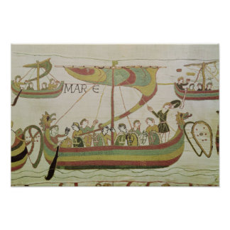 Duke William of Normandy crosses the sea Poster