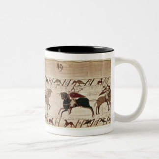 Duke William's knights arrive to do battle Two-Tone Coffee Mug