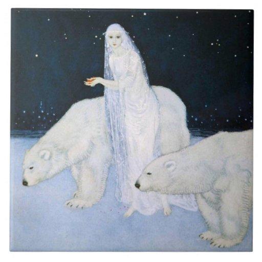 Dulac Polar Bear Winter Magic Tile Trivet Gift Box