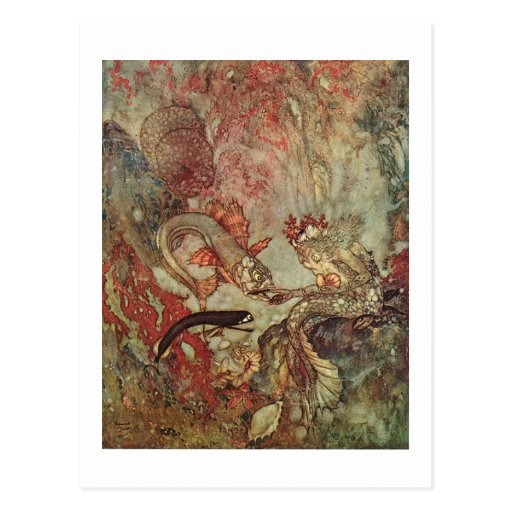 Dulac's The Little Mermaid Post Card