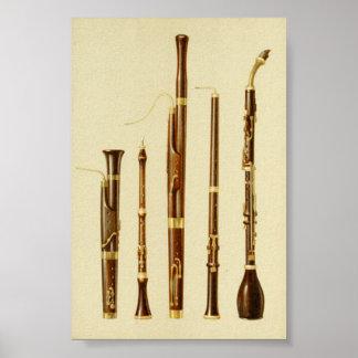 Dulcian, Oboe, Bassoon, Baronite Oboe Poster