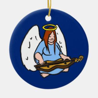 Dulcimer Angel Christmas Ornament