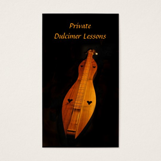 Dulcimer Lessons Business Card
