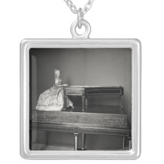 Dulcimer Player Silver Plated Necklace