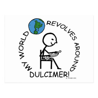 Dulcimer - World Revolves Around Postcard