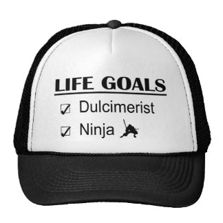 Dulcimerist Ninja Life Goals Trucker Hats