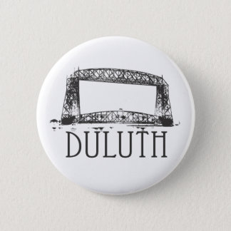 Duluth Aerial Lift Bridge 6 Cm Round Badge