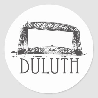 Duluth Aerial Lift Bridge Classic Round Sticker