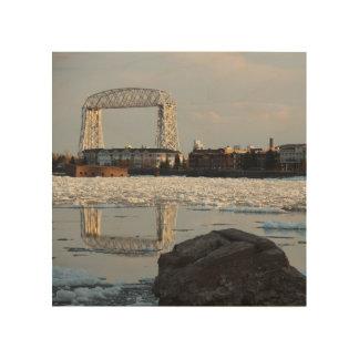 Duluth Minnesota Ariel Lift Bridge Canal Park Wood Wall Art