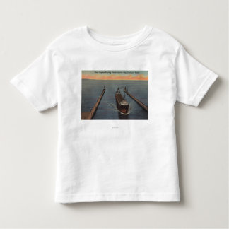 Duluth, MN - View of Freighter Entering Ship Toddler T-Shirt