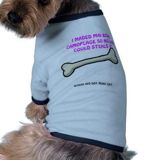 Dumb cute dog camo ringer dog shirt