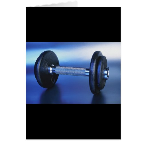 Dumbbell Greeting Card