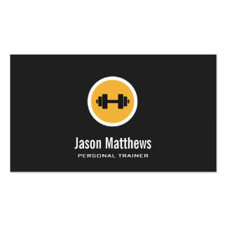 Dumbbell Logo, Personal Trainer, Fitness Gym 2 Business Cards