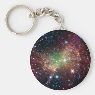 Dumbbell Nebula Basic Round Button Key Ring