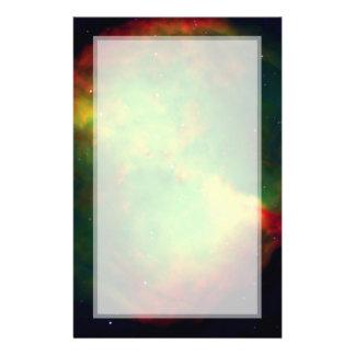 Dumbbell Nebula Space Green 14 Cm X 21.5 Cm Flyer
