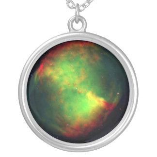 Dumbbell Nebula Space Green Pendant