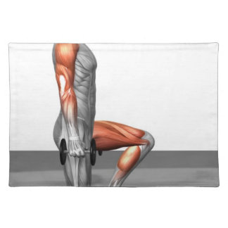 Dumbbell Step Up Placemat