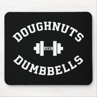 Dumbbells And Doughnuts - Funny Gym Workout Mouse Mat
