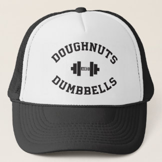 Dumbbells And Doughnuts - Funny Gym Workout Trucker Hat