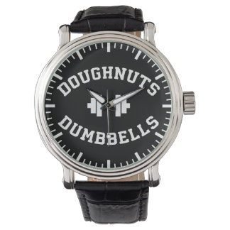 Dumbbells And Doughnuts - Funny Gym Workout Wrist Watches
