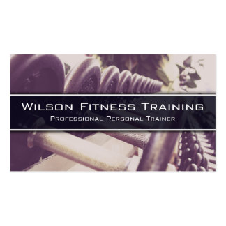 Dumbbells Weight Lift Fitness Photo Business Card