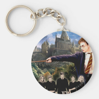 DUMBLEDORE'S ARMY™ 3 BASIC ROUND BUTTON KEY RING