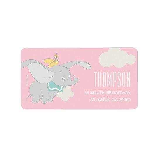 Dumbo | Girl Baby Shower Label