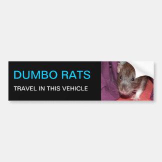 Dumbo rats bumper sticker car bumper sticker