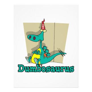 Dumbosaurus Dino Cartoon Flyers