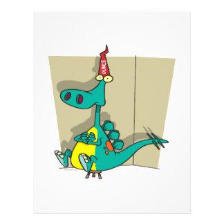 Dumbosaurus Dunce Dinosaur Cartoon Flyer