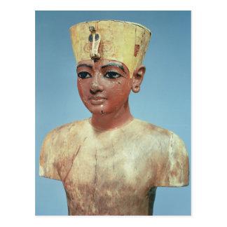 Dummy' of the young Tutankhamun  wearing Postcard
