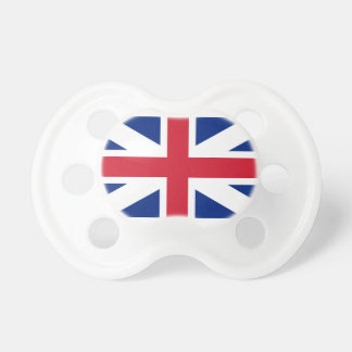 Dummy with flag of Great Britain Baby Pacifiers