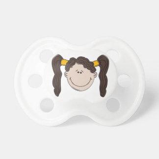 dummy with hair bun girl booginhead pacifier