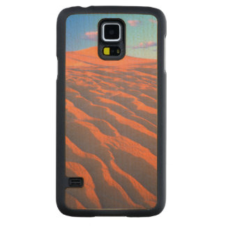 Dumont Dunes, Sand Dunes and Clouds Carved Maple Galaxy S5 Case