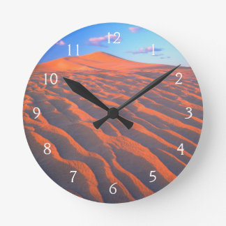 Dumont Dunes, Sand Dunes and Clouds Round Clock