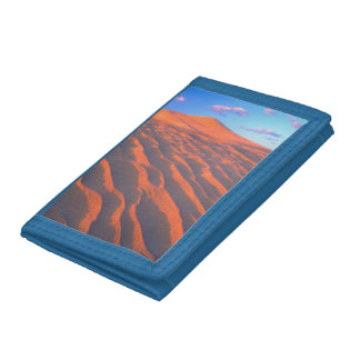 Dumont Dunes, Sand Dunes and Clouds Trifold Wallet