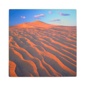 Dumont Dunes, Sand Dunes and Clouds Wood Coaster