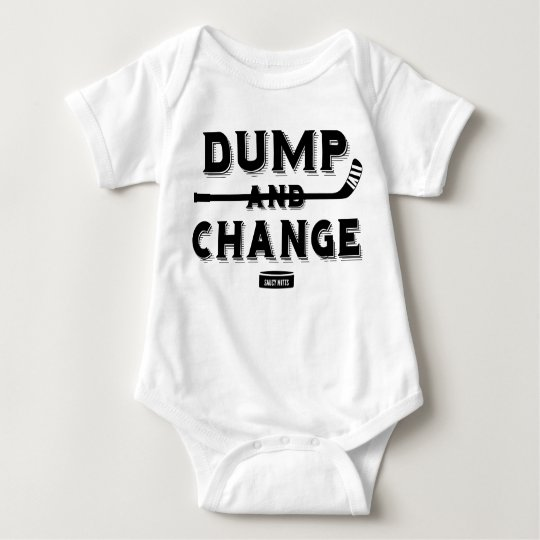 Dump and Change Hockey Baby Bodysuit