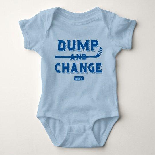 Dump and Change Hockey Baby Bodysuit Royal Blue