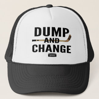 Dump and Change Hockey Stick Color Trucker Hat